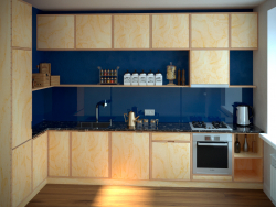 Küche aus Sperrholz