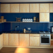 Plywood kitchen in 3d max corona render image