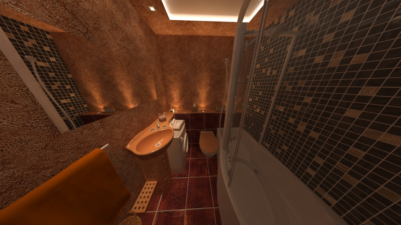 Une salle de bain dans 3d max vray image