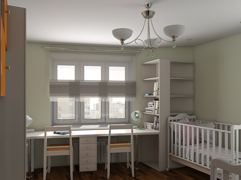 Children's room for growth in 3d max vray image