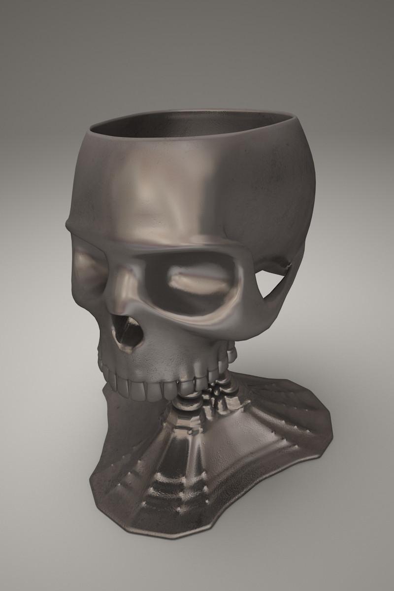 Goblet skull in 3d max vray 3.0 image