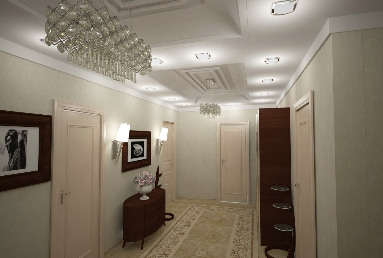 3d visualization of the project in the hallway2 3d max, render vray of Мehman