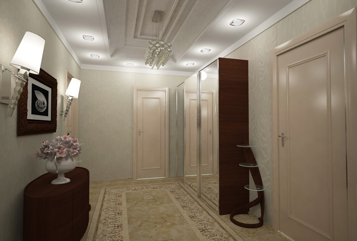 Hallway2 in 3d max vray image