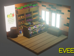 Vegets Shop. (Low-Poly)