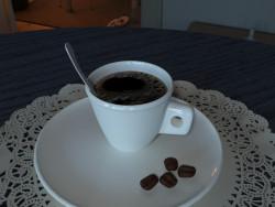 एस्प्रेसो कप और तश्तरी