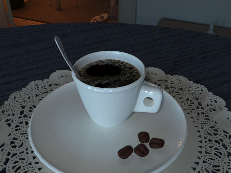 Espresso Cup and saucer in 3d max corona render image
