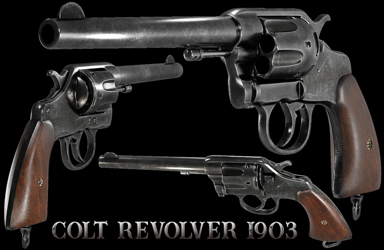 Colt-Revolver-1903 in 3d max vray 5.0 image