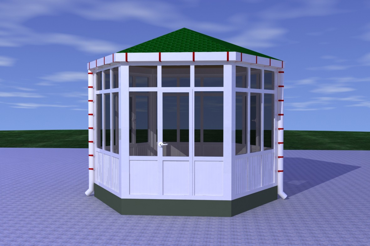 Plastic cabin  in  3d max   mental ray  image