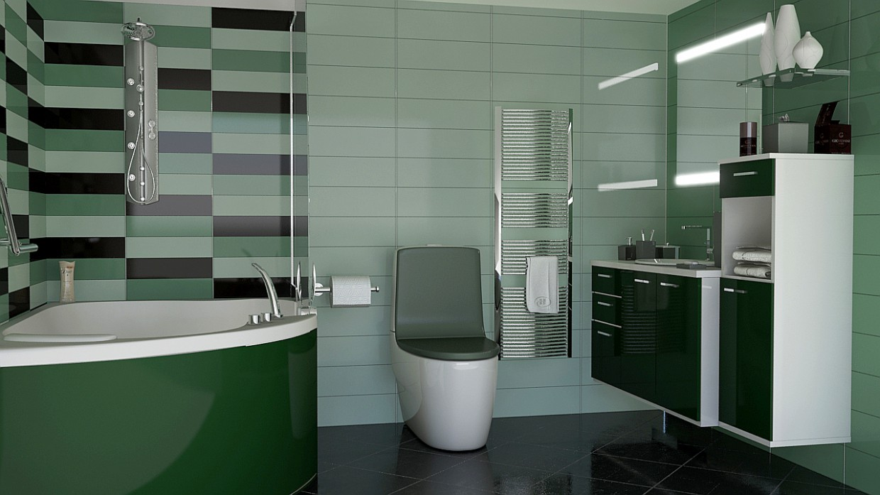 bathroom in 3d max mental ray image