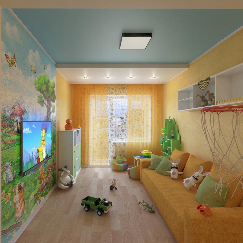 Children's bedroom in 3d max vray 3.0 image