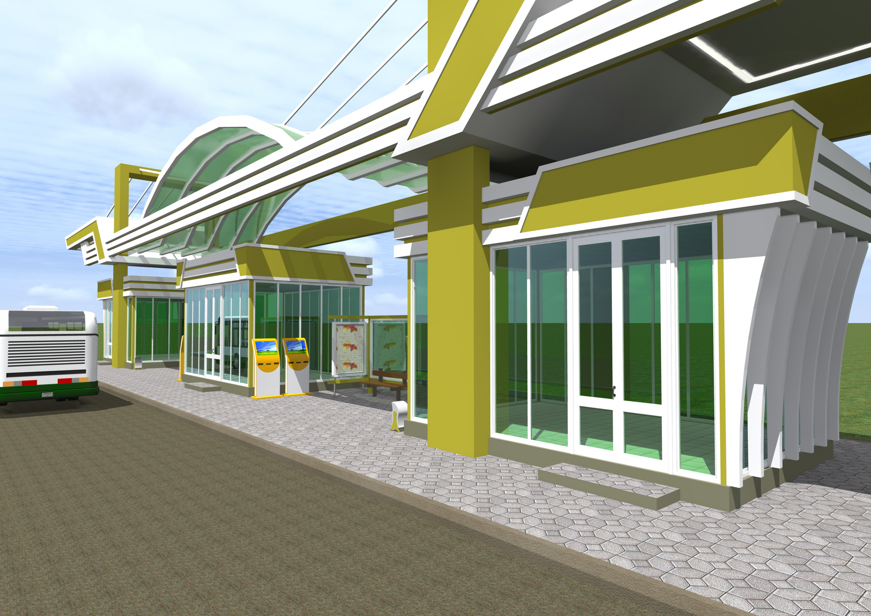 Public transport stop in ArchiCAD Other image