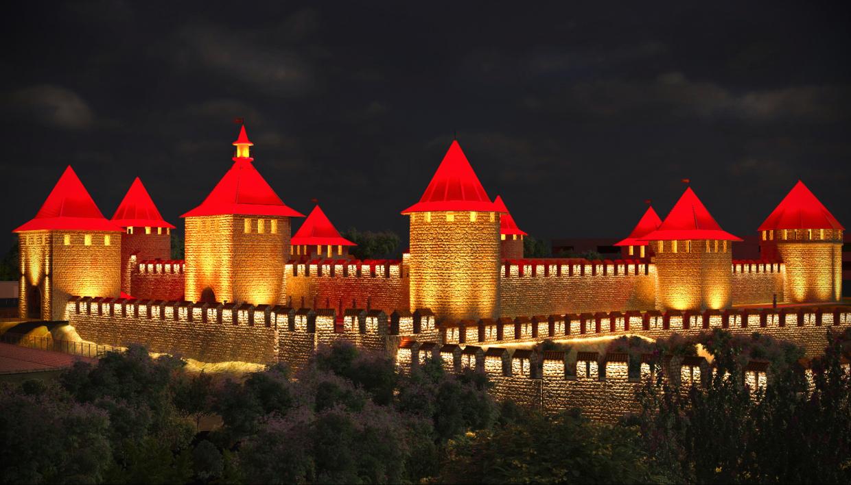 Light Scheme Bender Castle in 3d max corona render image