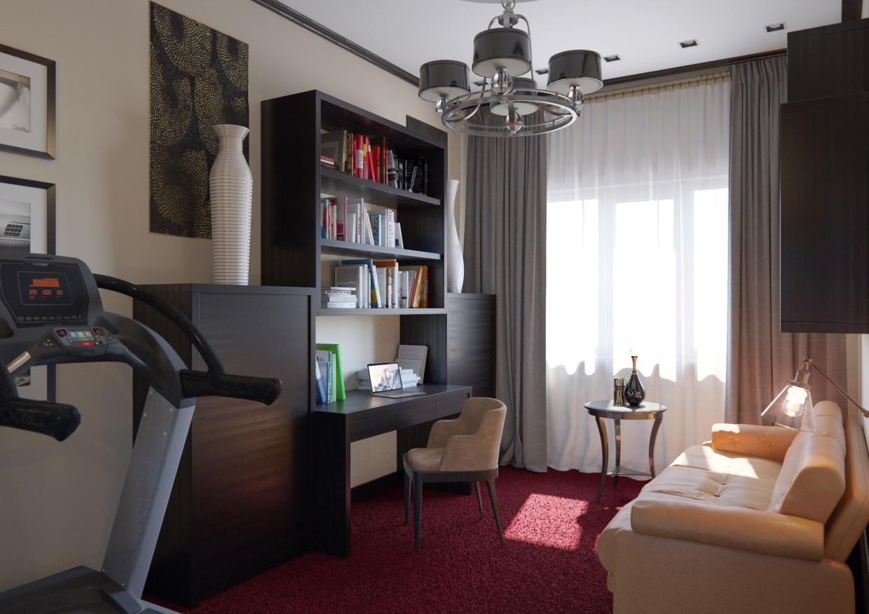 Office room in 3d max corona render image