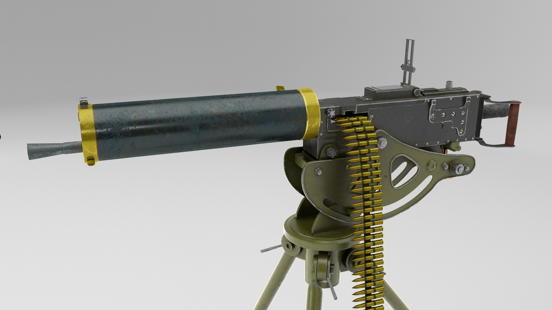 Browning 1917 in Maya vray 5.0 image