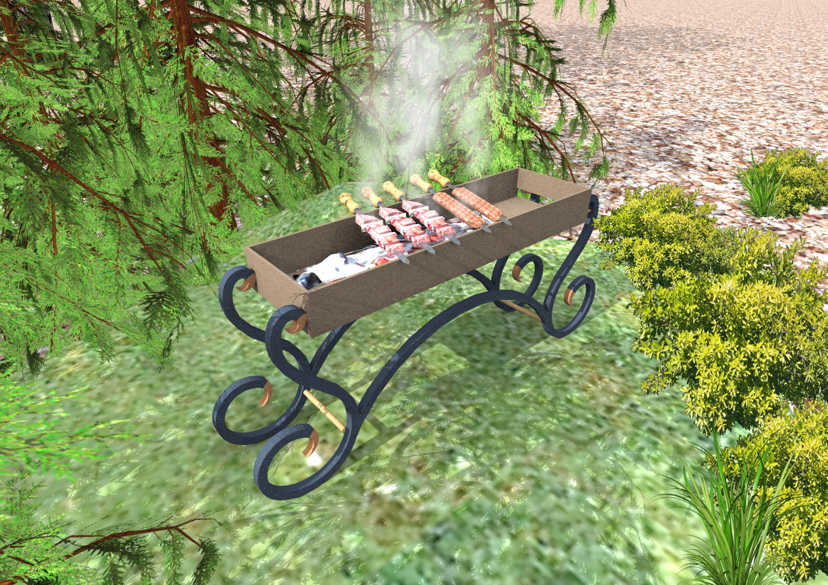 BBQ with barbecue in ArchiCAD Other image