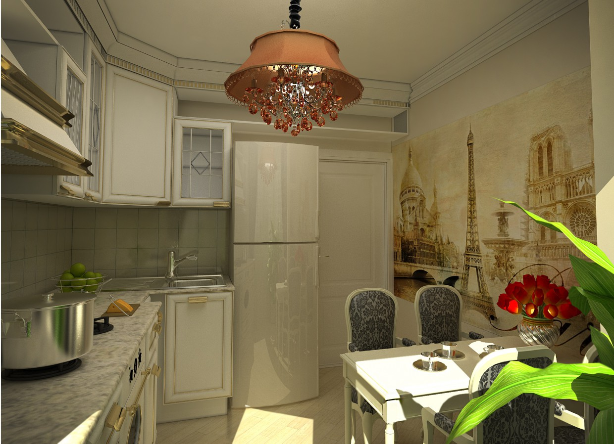 3d visualization of the project in the kitchen 3d max, render vray of Полина Ходина