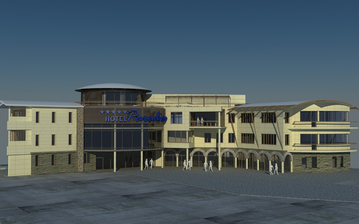 3d visualization of the project in the Hotel in Crimea 3d max, render vray of grin-81