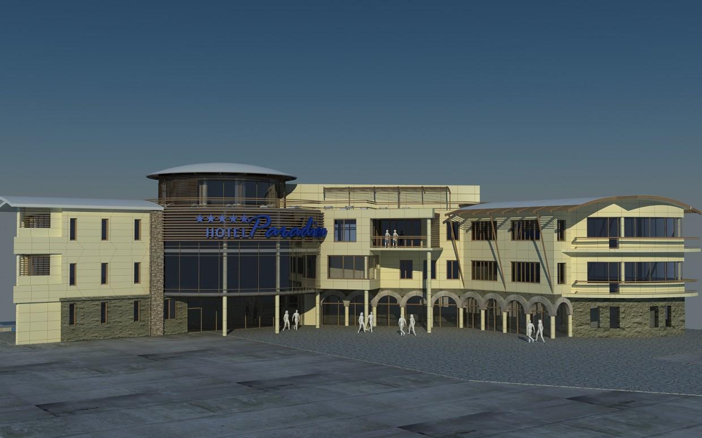 Гостиница в Крыму в 3d max vray изображение