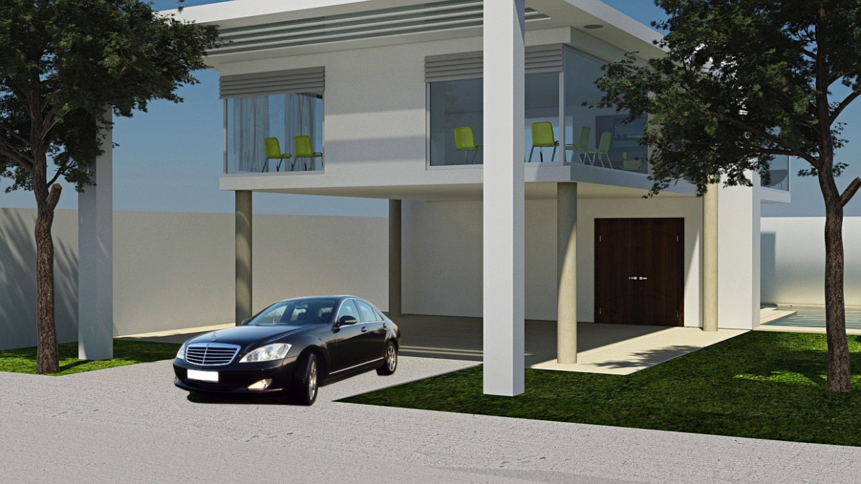 House in 3d max mental ray image