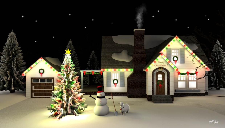 visualización 3D del proyecto en el Noche de Navidad. Otra cosa render vray Наталья Nansi