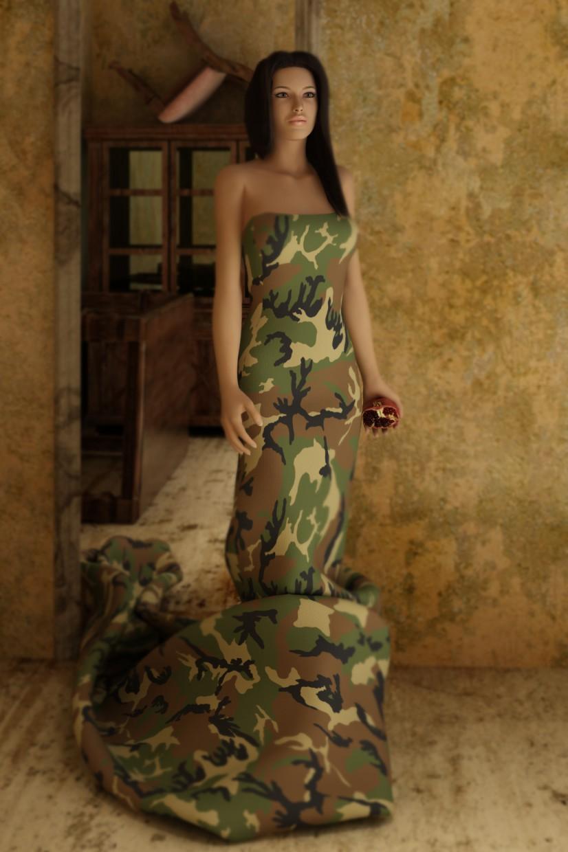Девушка с гранатом... в 3d max vray изображение
