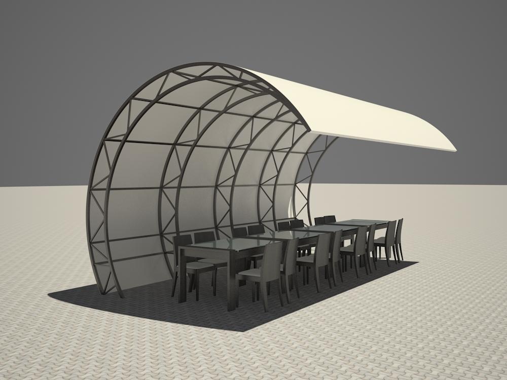 visualización 3D del proyecto en el Ola 3d max render vray 2.5 inna_s