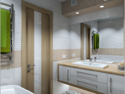 Interior design of a bathroom in Chernihiv