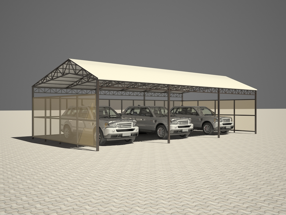 Carport in 3d max vray 2.5 image