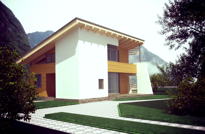 Жилой дом в 3d max vray изображение