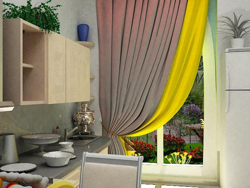 Combined room in 3d max vray image