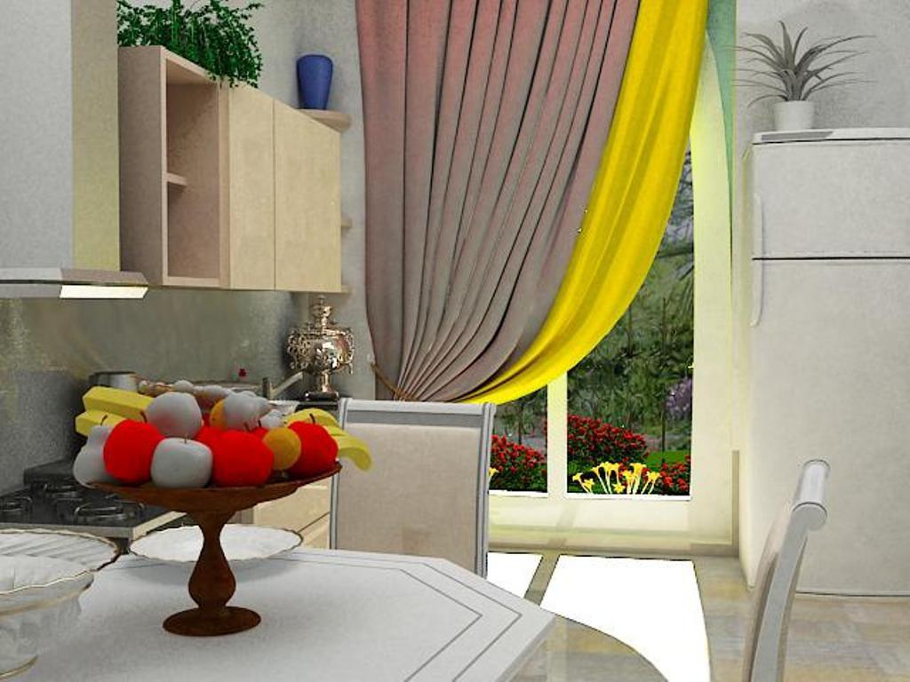 Совмещенная комната в 3d max vray изображение