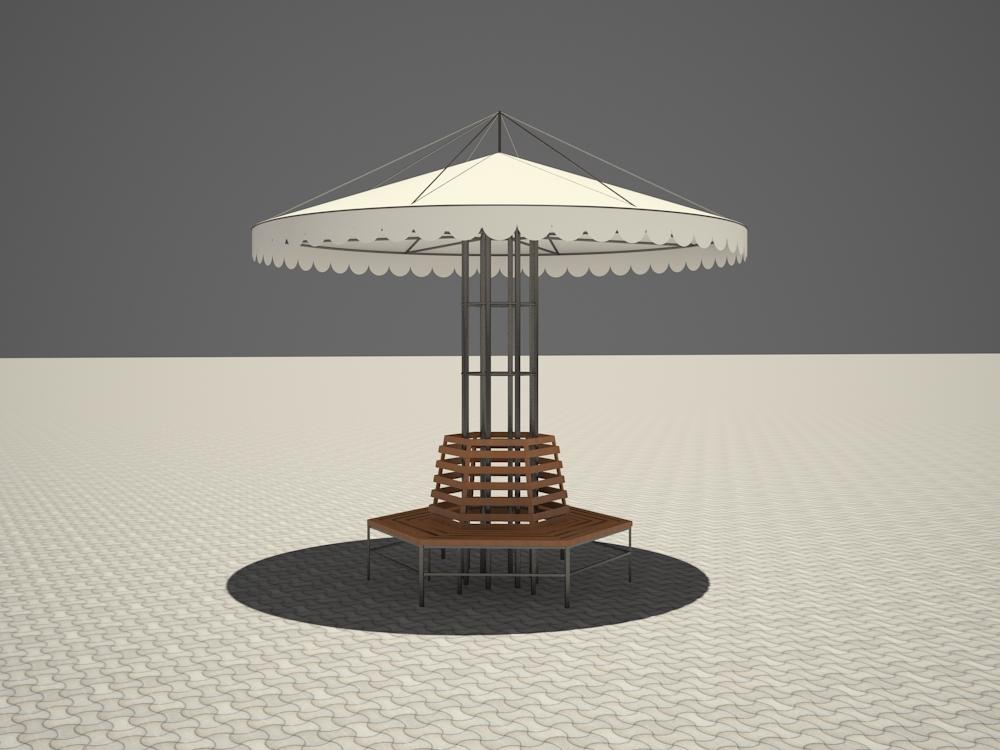 Visualizzazione 3D del progetto Fungo nel , rendere vray 2.5 di inna_s
