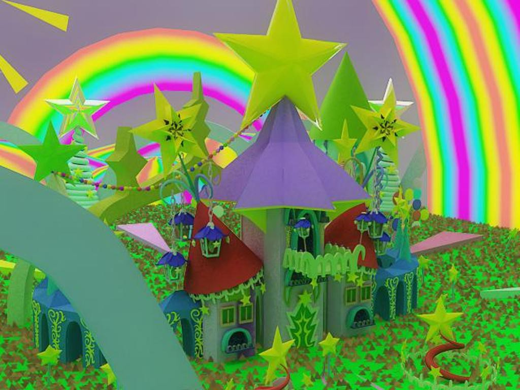 World of star castles  in  3d max   vray  image