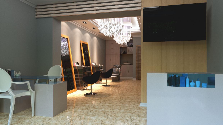 Beauty salon in 3d max corona render image