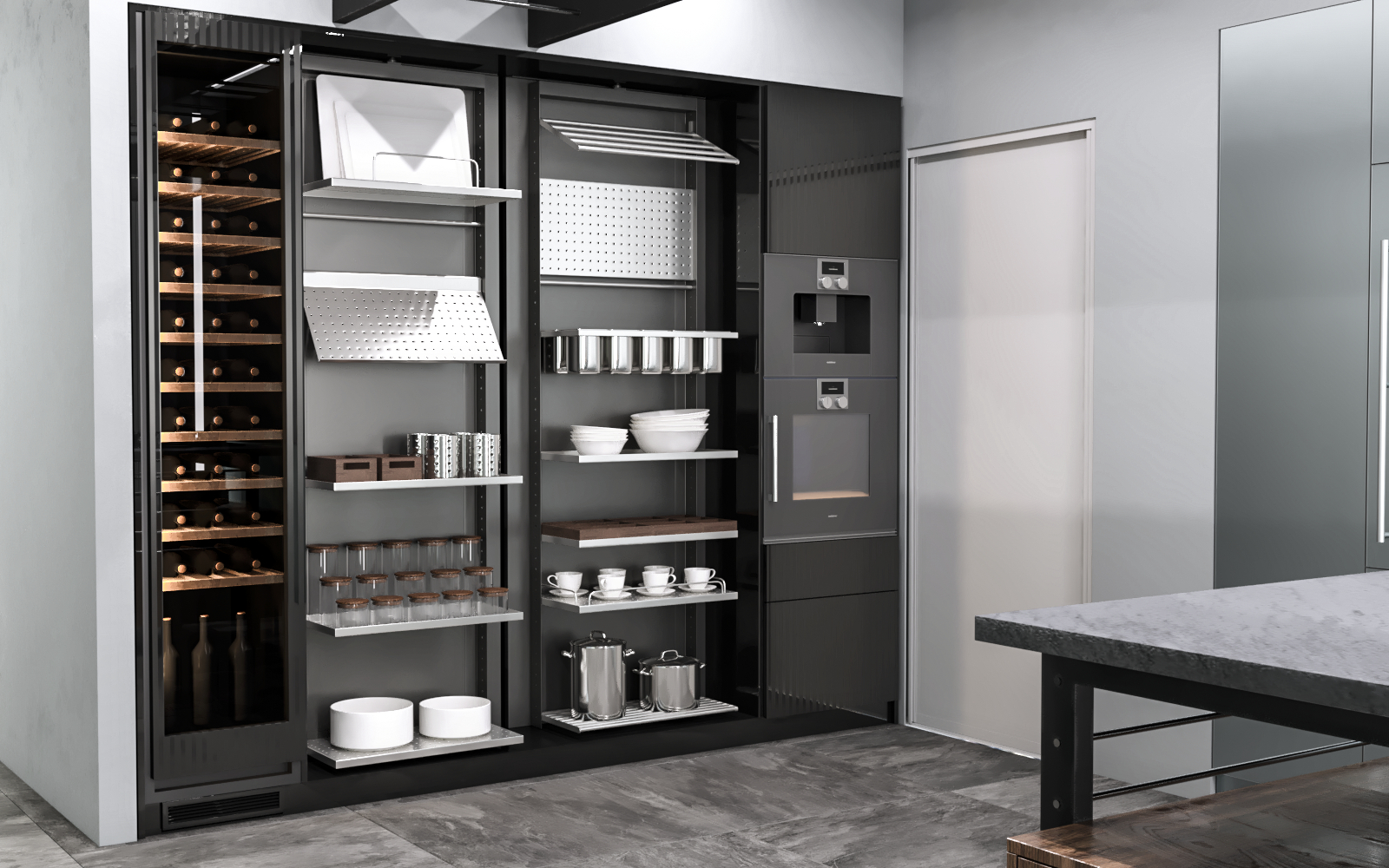 Eggersmann Works Kitchen Visualization in 3d max corona render image