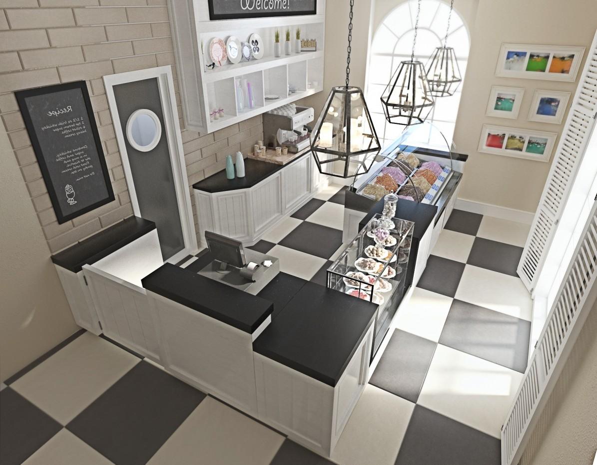 Кофейня по ул.Мясникова г.Минск в 3d max corona render изображение