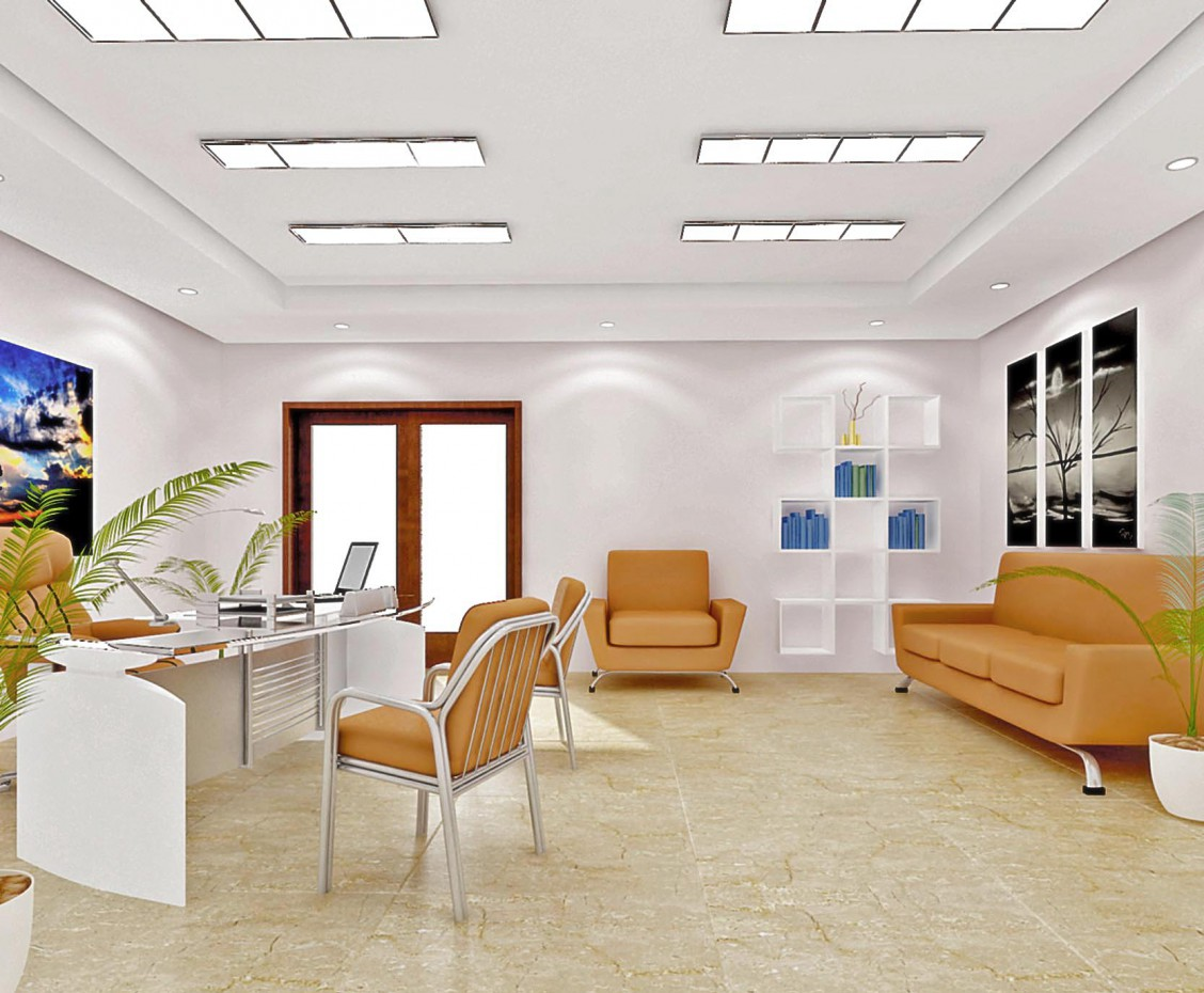 Office View in 3d max vray image