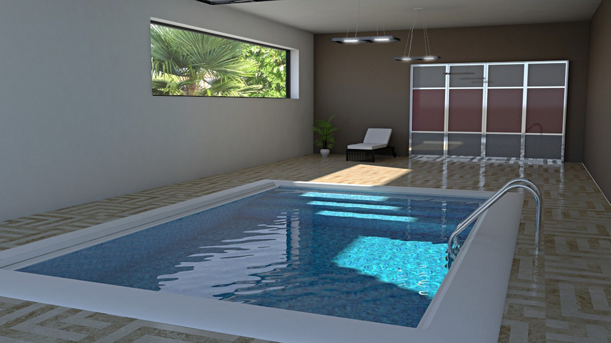 Pool in 3d max mental ray image