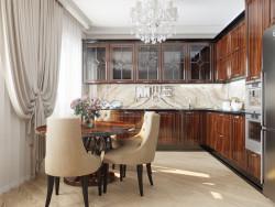 Projeto de design de cozinha sala de estar