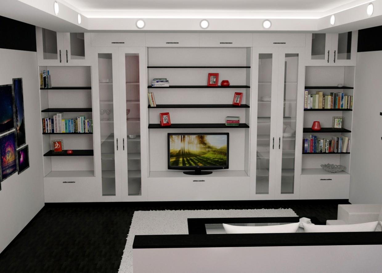 Дизайн гостинной. Дипломный проект. в 3d max vray изображение
