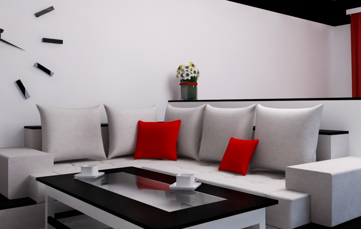 Living room design. Thesis project. in 3d max vray image