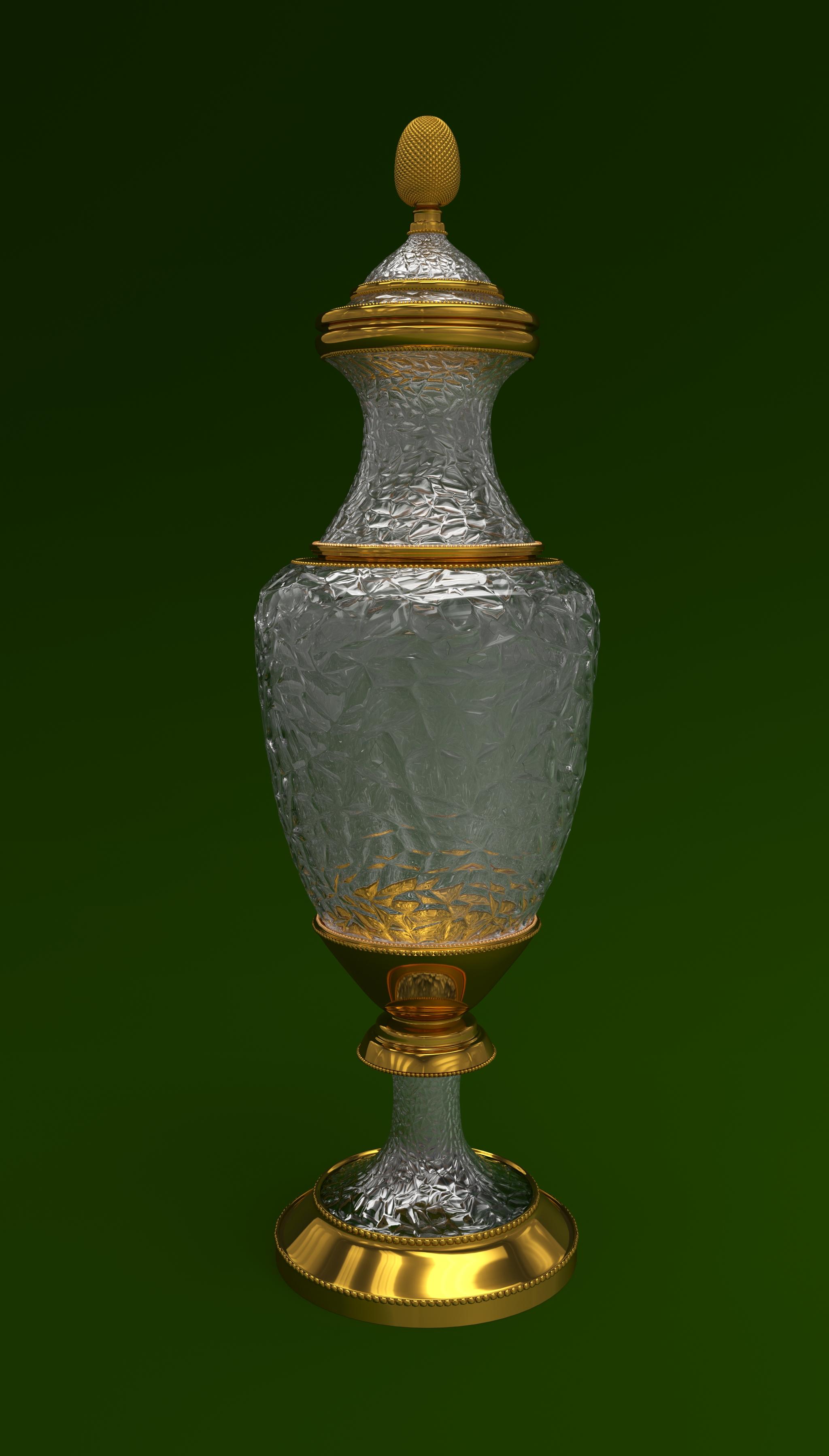 फूलदान 3d max corona render में प्रस्तुत छवि