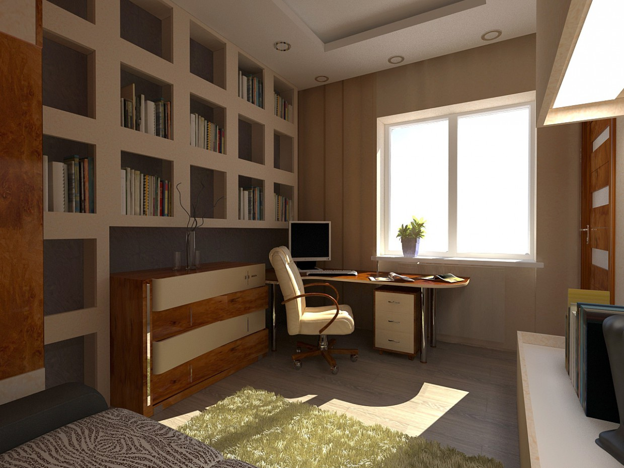 Cabinet in a private house in 3d max vray image
