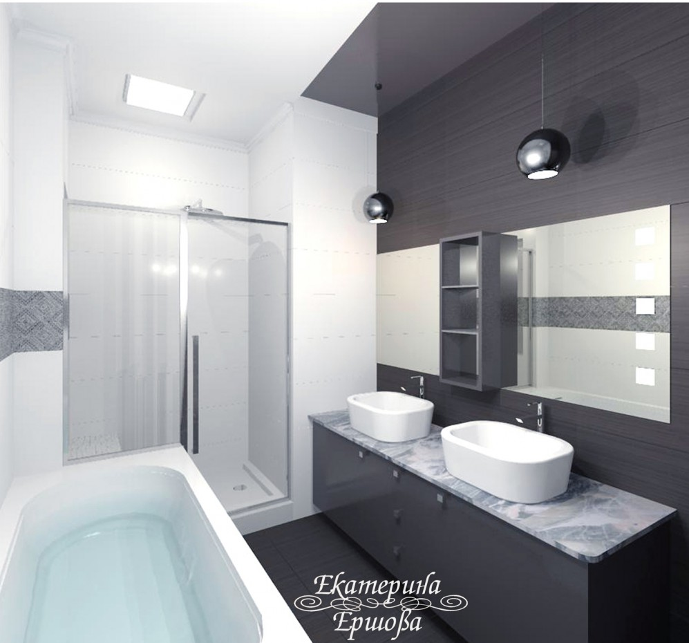3d visualization of the project in the Bathroom Other thing, render vray of Eкатерина