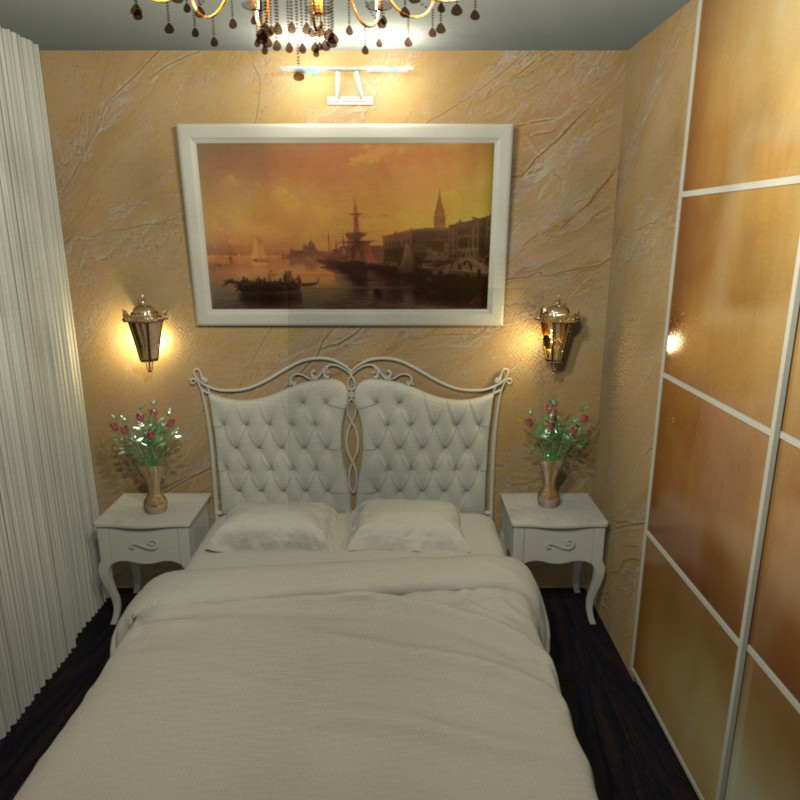 3d visualization of the project in the Bedroom-kitchen Other thing, render Other of Helena Che