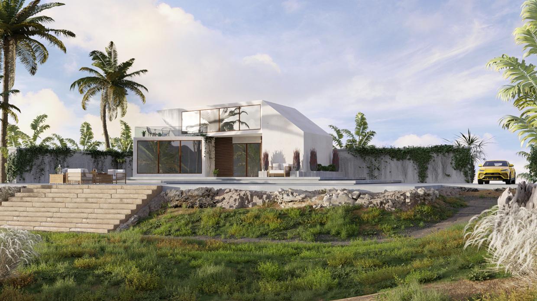 Villa em Blender cycles render imagem