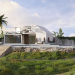 Villa in Blender cycles render Bild