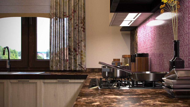 Кухня Re-Make в 3d max corona render зображення