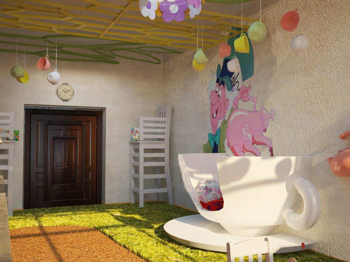 Детское кафе в 3d max vray изображение