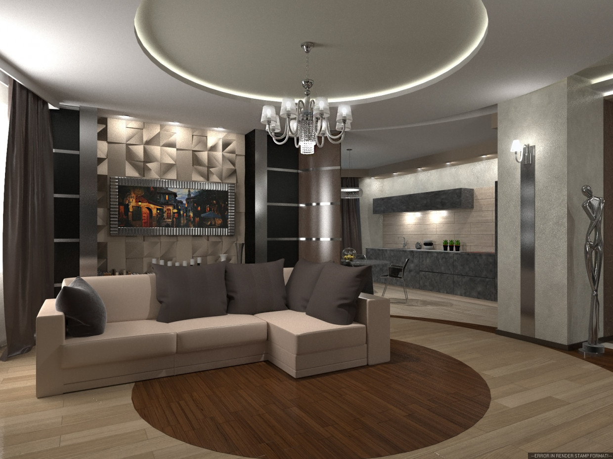 Interior living room in 3d max corona render image